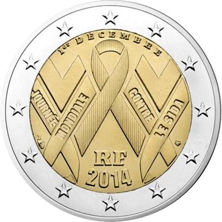 cdf683e4d2 2 euro commemorativi Giornata mondiale contro l'AIDS 2014 ...