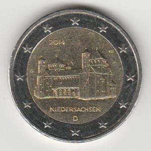 2-euro-2014-niedersachsen-D