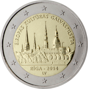 2-euro-2014-riga-capitale-cultura-Lettonia