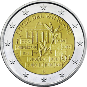 2-euro-2014-Vaticano-Muro-Berlino