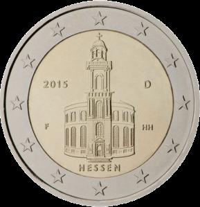2 euro commemorativi hessen (Assia) Germany 2015