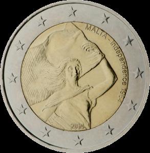 2 euro commemorativi indipendence 1964 Malta 2014