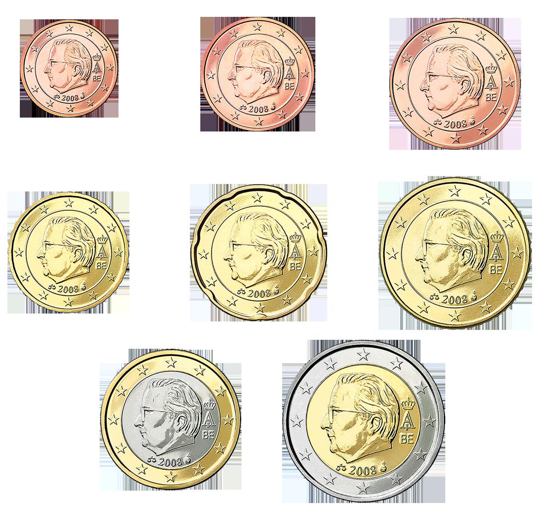 euro coins belgio 2008 numismatica spicciola. Black Bedroom Furniture Sets. Home Design Ideas