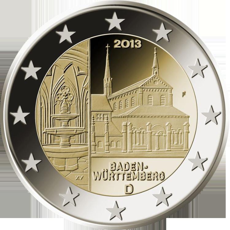 2 euro commemorativi germania baden w rttemberg 2013. Black Bedroom Furniture Sets. Home Design Ideas
