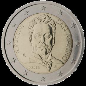 2 euro commemorativi 2014 San Marino Giacomo Puccini