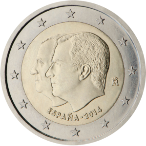 2 euro commemorativi 2014 Spain Re Filipe Re Juan Carlos