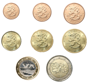 euro coin Finland from 2011