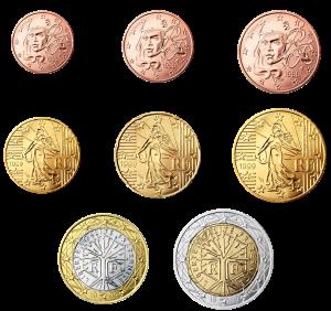 euro coin Francia 2002