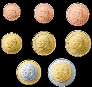 euro coin Vatican City 2002-2005