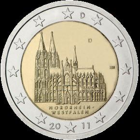 2 euro commemorativi Germany nordrhein westfalen 2011 duomo colonia