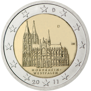 2 euro commemorativi Germany nordrhein westfalen 2011 duomo colonia